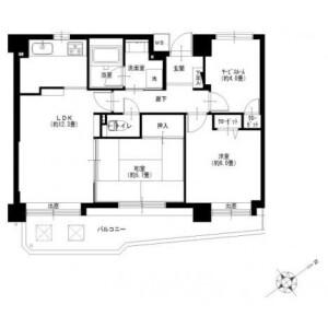 横浜市港南区日野南-2SLDK{building type} 楼层布局