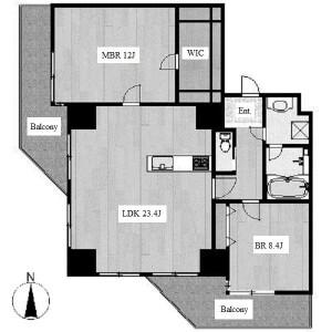 2LDK Apartment in Nagono - Nagoya-shi Nakamura-ku Floorplan