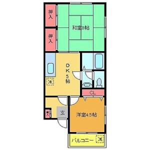 2DK Mansion in Ayase - Adachi-ku Floorplan