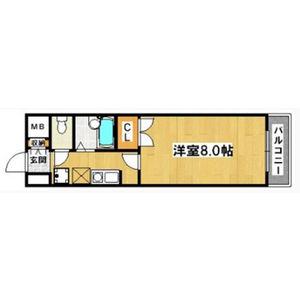 1K Mansion in Kainochonishi - Sakai-shi Sakai-ku Floorplan