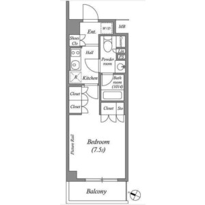 1K Mansion in Nishiikebukuro - Toshima-ku Floorplan