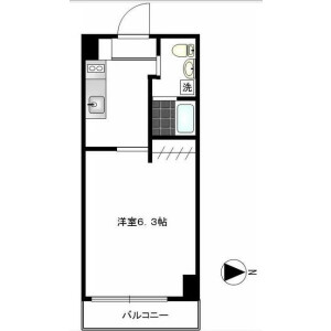 1K Mansion in Hatanodai - Shinagawa-ku Floorplan