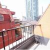 1R Apartment to Buy in Shinjuku-ku Balcony / Veranda