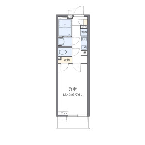 1K Mansion in Takaki - Fukuoka-shi Minami-ku Floorplan
