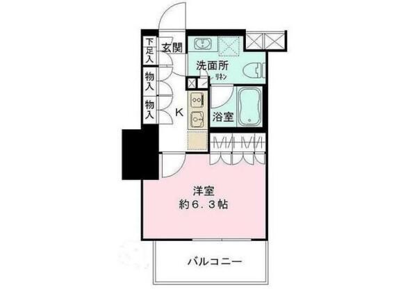 1K Apartment to Buy in Shibuya-ku Floorplan