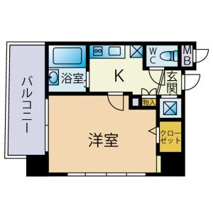 新宿區西早稲田(2丁目1番1〜23号、2番)-1R公寓大廈 房間格局