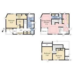 3LDK {building type} in Shimoma - Setagaya-ku Floorplan