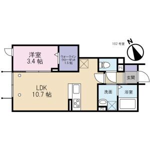 1LDK Mansion in Kinuta - Setagaya-ku Floorplan
