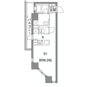 1K Apartment in Aobadai - Meguro-ku Floorplan