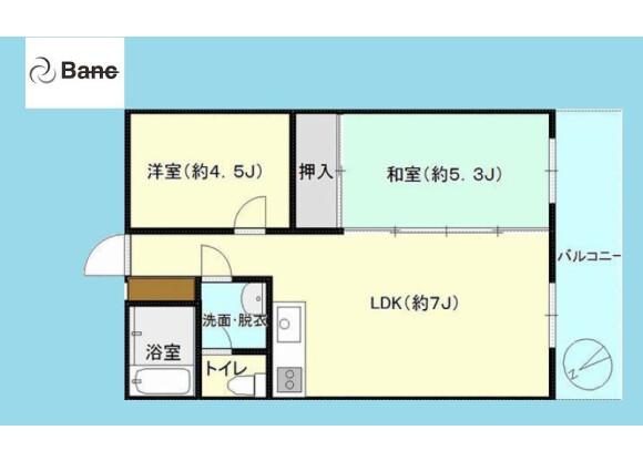 1LDK Apartment to Buy in Edogawa-ku Floorplan
