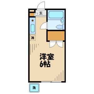 1K Apartment in Ishida - Hino-shi Floorplan