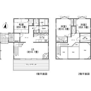 北佐久郡軽井沢町長倉-3LDK{building type} 楼层布局
