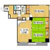 3LDK Apartment to Rent in Nara-shi Floorplan