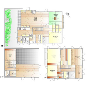 6SLDK House in Chuo - Ota-ku Floorplan