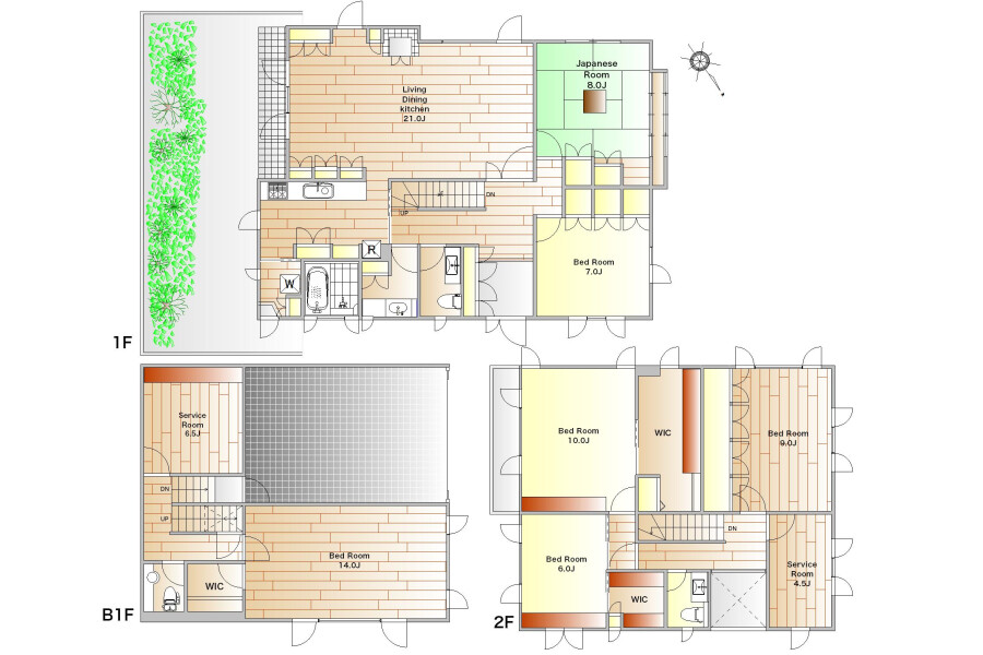6SLDK House to Rent in Ota-ku Floorplan