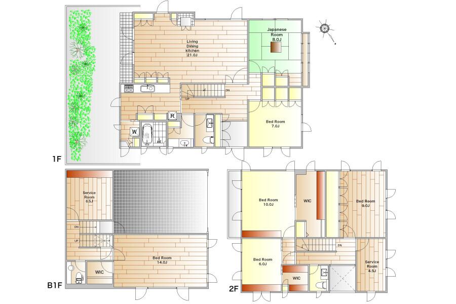 6SLDK House to Rent in Ota-ku Floorplan