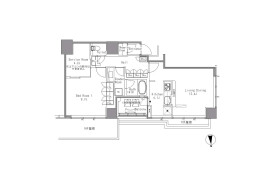 1SLDK Apartment in Hamamatsucho - Minato-ku