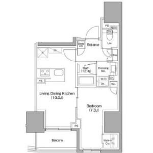 1LDK Mansion in Hongo - Bunkyo-ku Floorplan