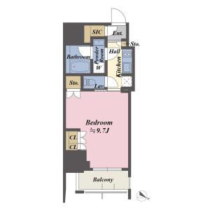1K {building type} in Higashiazabu - Minato-ku Floorplan