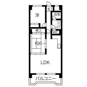 尾張旭市東栄町-2LDK公寓大廈 房間格局