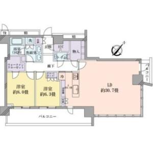 2LDK {building type} in Tsukishima - Chuo-ku Floorplan