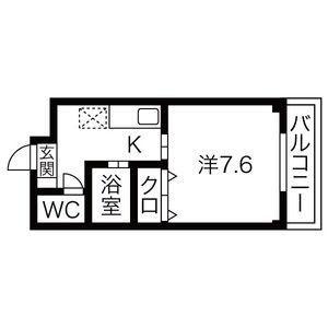 1K Apartment in Todanishi - Nagoya-shi Nakagawa-ku Floorplan