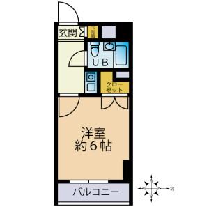 1K {building type} in Yagicho - Hachioji-shi Floorplan