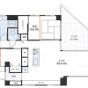 2LDK Apartment to Buy in Shinjuku-ku Floorplan
