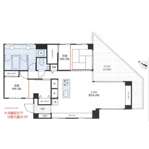 2LDK {building type} in Haraikatamachi - Shinjuku-ku Floorplan