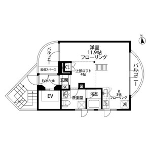 1LDK Mansion in Higashiazabu - Minato-ku Floorplan