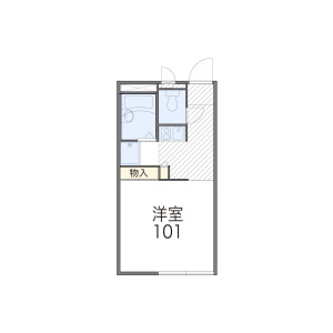 1K Apartment in Minoridai - Matsudo-shi Floorplan