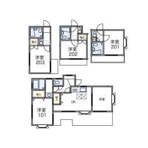 2DK Apartment in Funabashi - Setagaya-ku Floorplan