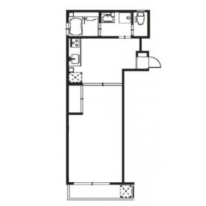 1LDK Mansion in Mukojima - Sumida-ku Floorplan