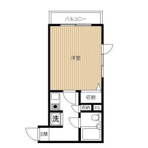 1K Mansion in Minamishinagawa - Shinagawa-ku Floorplan