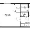 在大阪市淀川区内租赁1K 公寓大厦 的 楼层布局