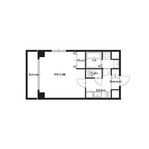 大阪市淀川区西中島-1K公寓大厦 楼层布局