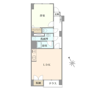 1LDK {building type} in Todoroki - Setagaya-ku Floorplan