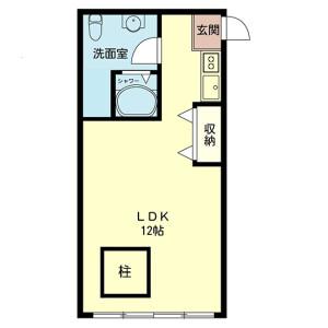 1R Mansion in Higashiikebukuro - Toshima-ku Floorplan