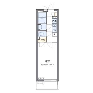 川崎市宮前區宮崎-1K公寓大廈 房間格局