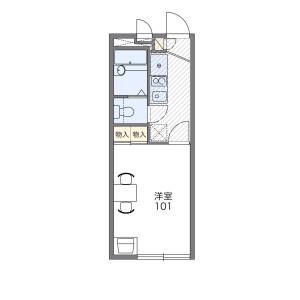 1K Apartment in Katsuyamaminami - Osaka-shi Ikuno-ku Floorplan