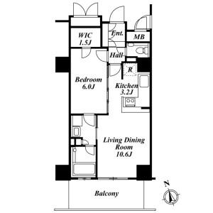 1LDK Mansion in Haramachi - Shinjuku-ku Floorplan
