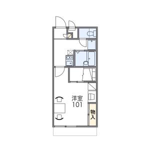 1K Apartment in Nagasu higashidori - Amagasaki-shi Floorplan