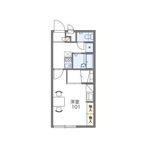1K Apartment in Kamiyakiri - Matsudo-shi Floorplan