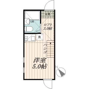 1R Apartment in Shirasagi - Nakano-ku Floorplan