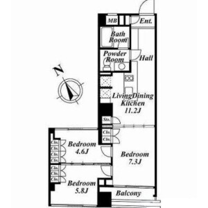 3LDK Mansion in Shibuya - Shibuya-ku Floorplan