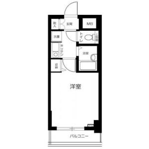 1K Mansion in Shimoshakujii - Nerima-ku Floorplan