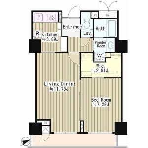 1LDK Mansion in Jinnan - Shibuya-ku Floorplan