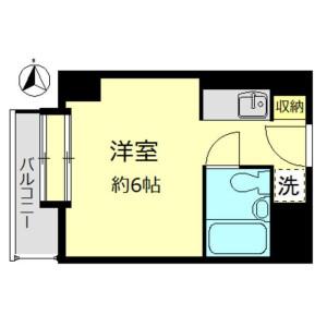 1R Apartment in Ohashi - Meguro-ku Floorplan