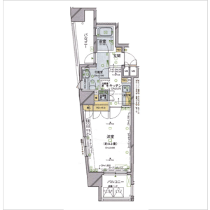1K Apartment in Kojimachi - Chiyoda-ku Floorplan