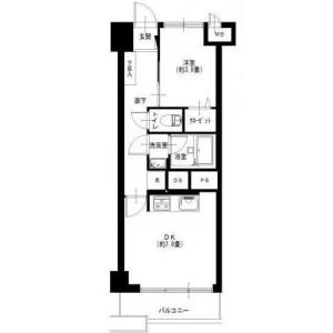 大田区 - 矢口 公寓 1DK 房間格局